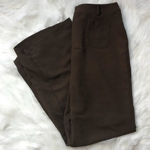 Pants - Brown Wide-Legged Pants